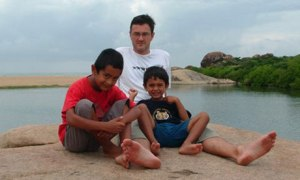 The author's husband and sons, Vikram, Steve, and Malli Lissenburgh.
